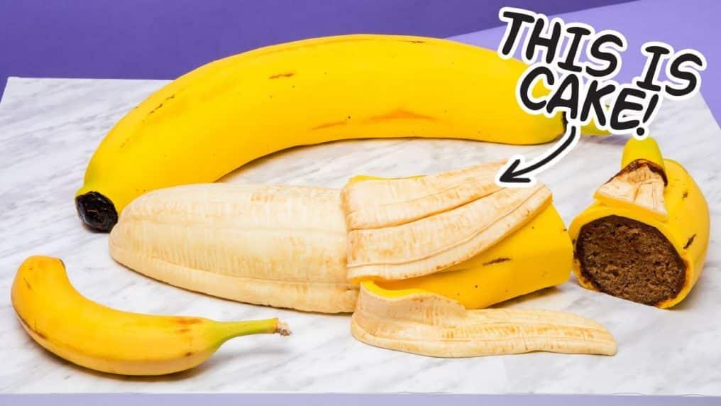 GIANT Banana... Made Of CAKE! | How To Cake...