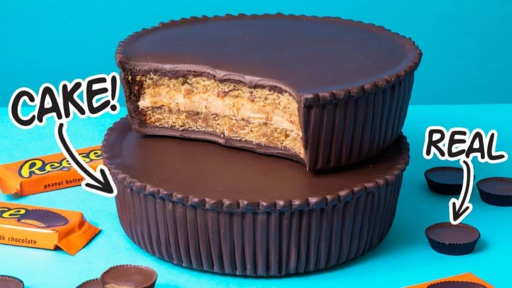 GIANT Reese Cups Cake from Peanut Butter...