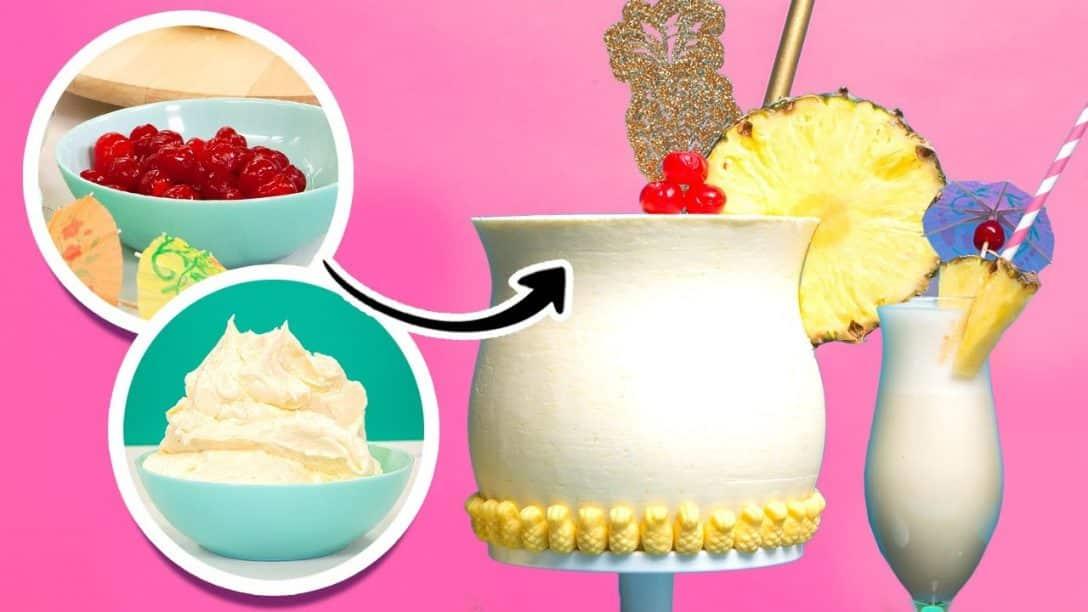 Pina Colada CAKE made with Crushed Pineapple,...