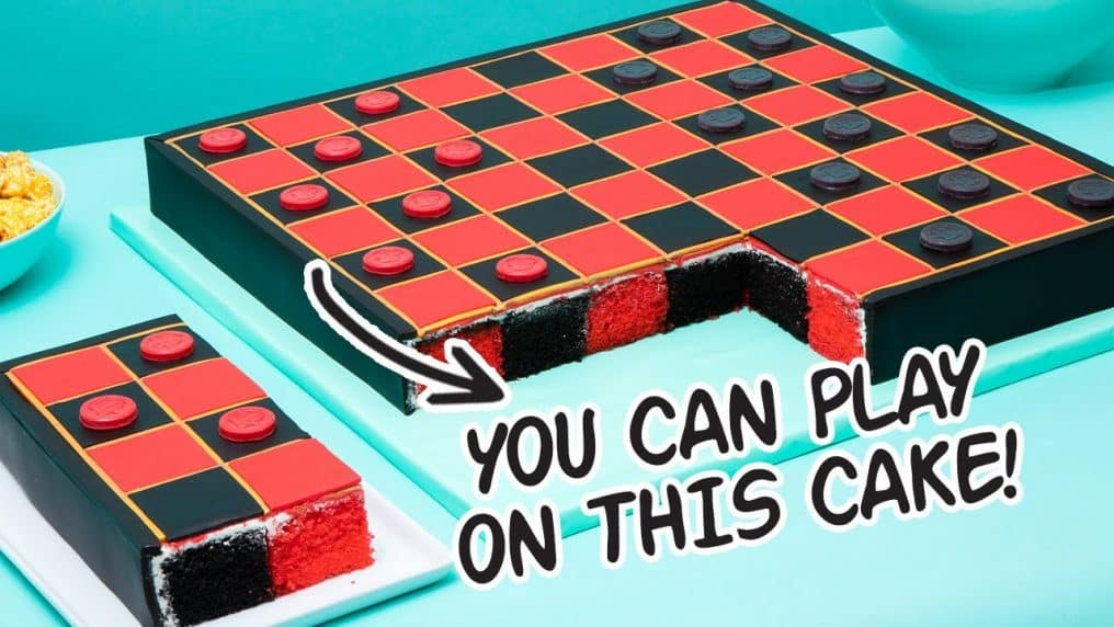 Playing Chocolate Checkers On A CAKE! | How...