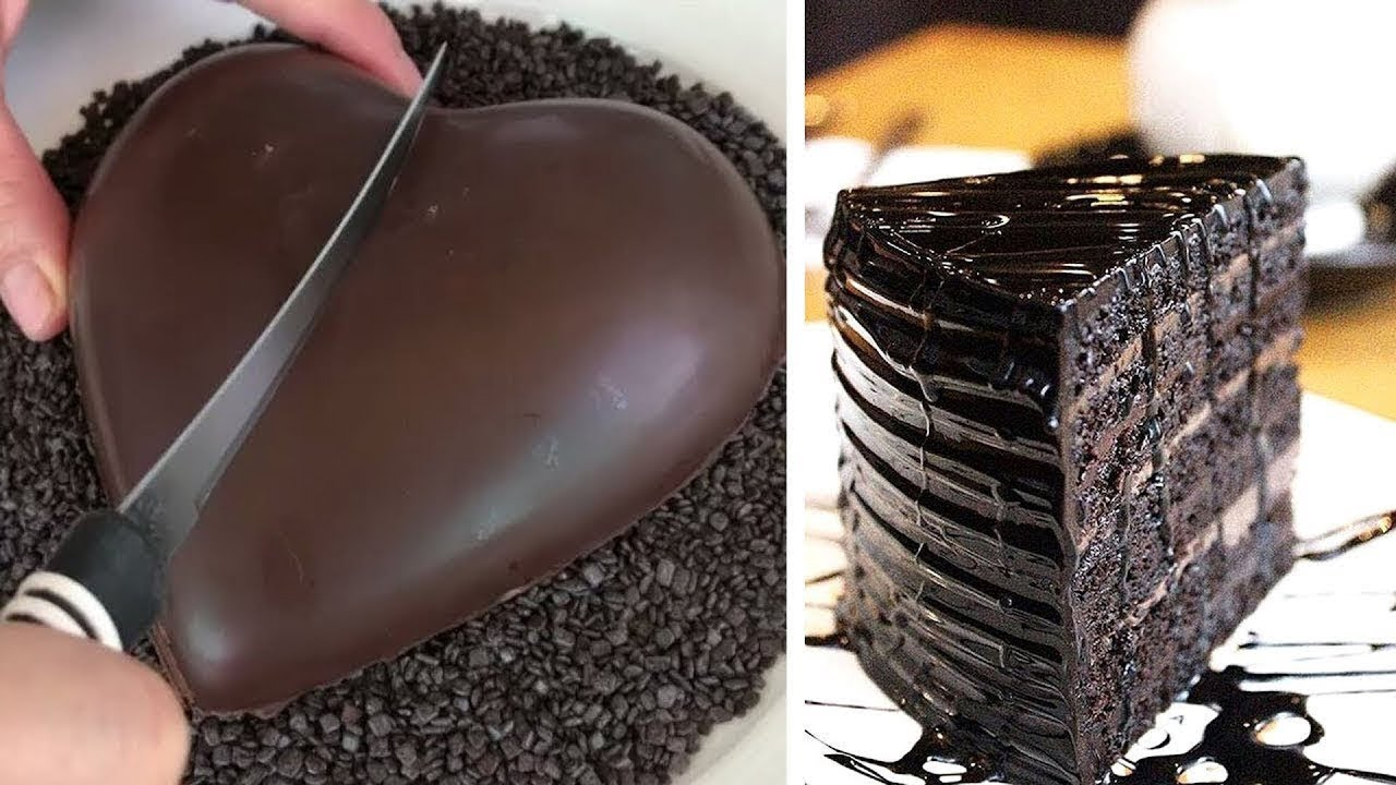 Easy And Delicious Chocolate Cake Heart