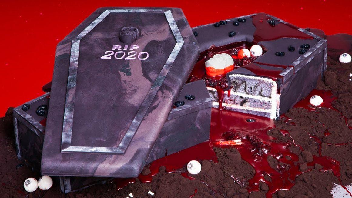 Spooky Coffin Cake